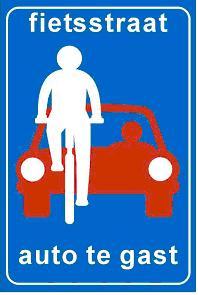 Fietsstraatautotegast